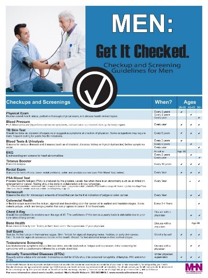 Mens Health Get Checked